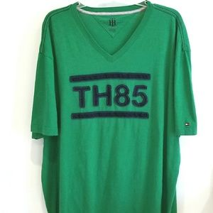 Tommy Hilfinger green vintage logo tshirt XXL